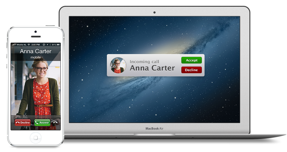 Handsfree calling with your Mac using bluetooth